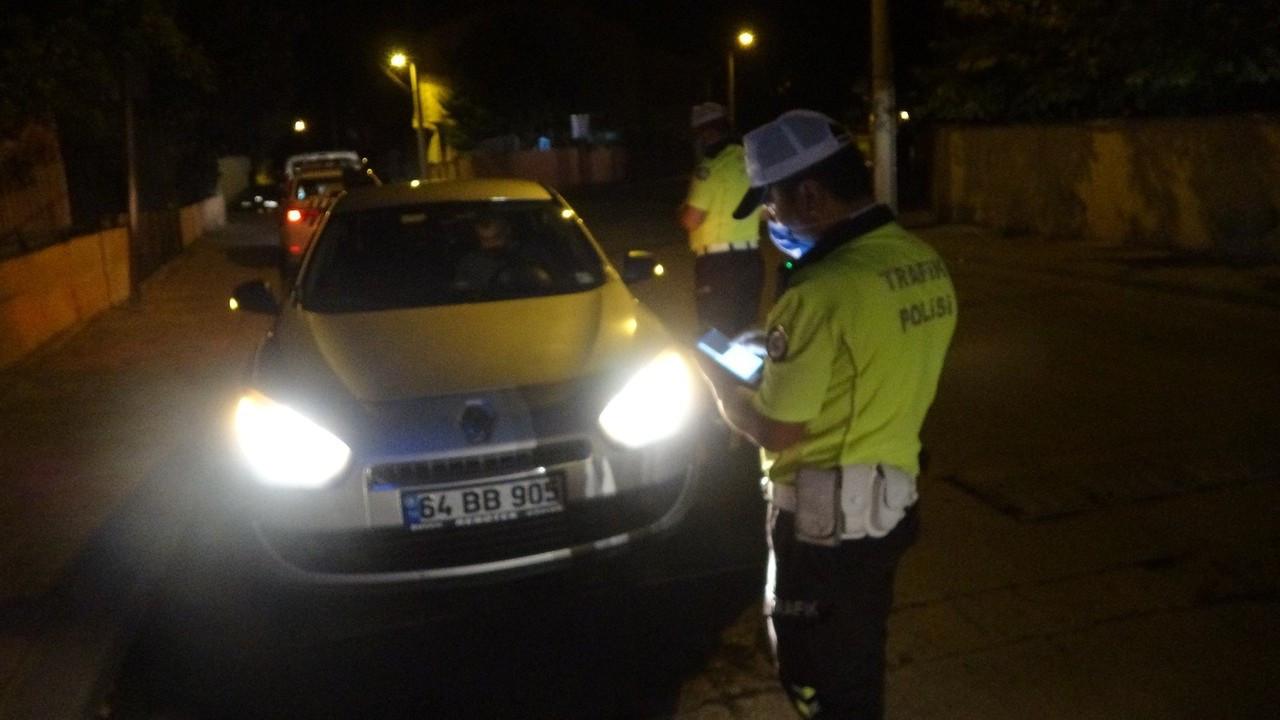 Uşak'ta trafik ekipleri alkol denetimi yaptı