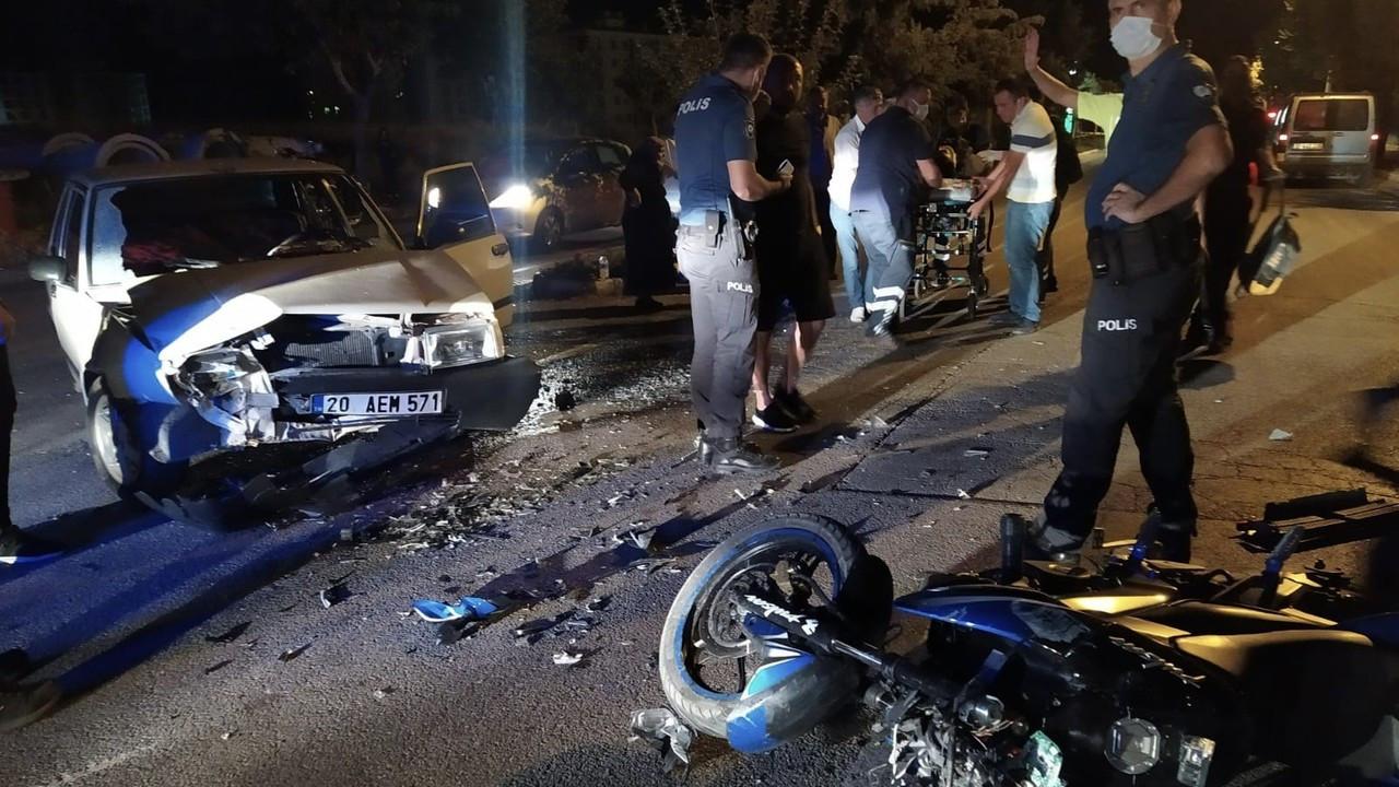 Isparta'da otomobil ile motosiklet çarpıştı: 1 ağır yaralı