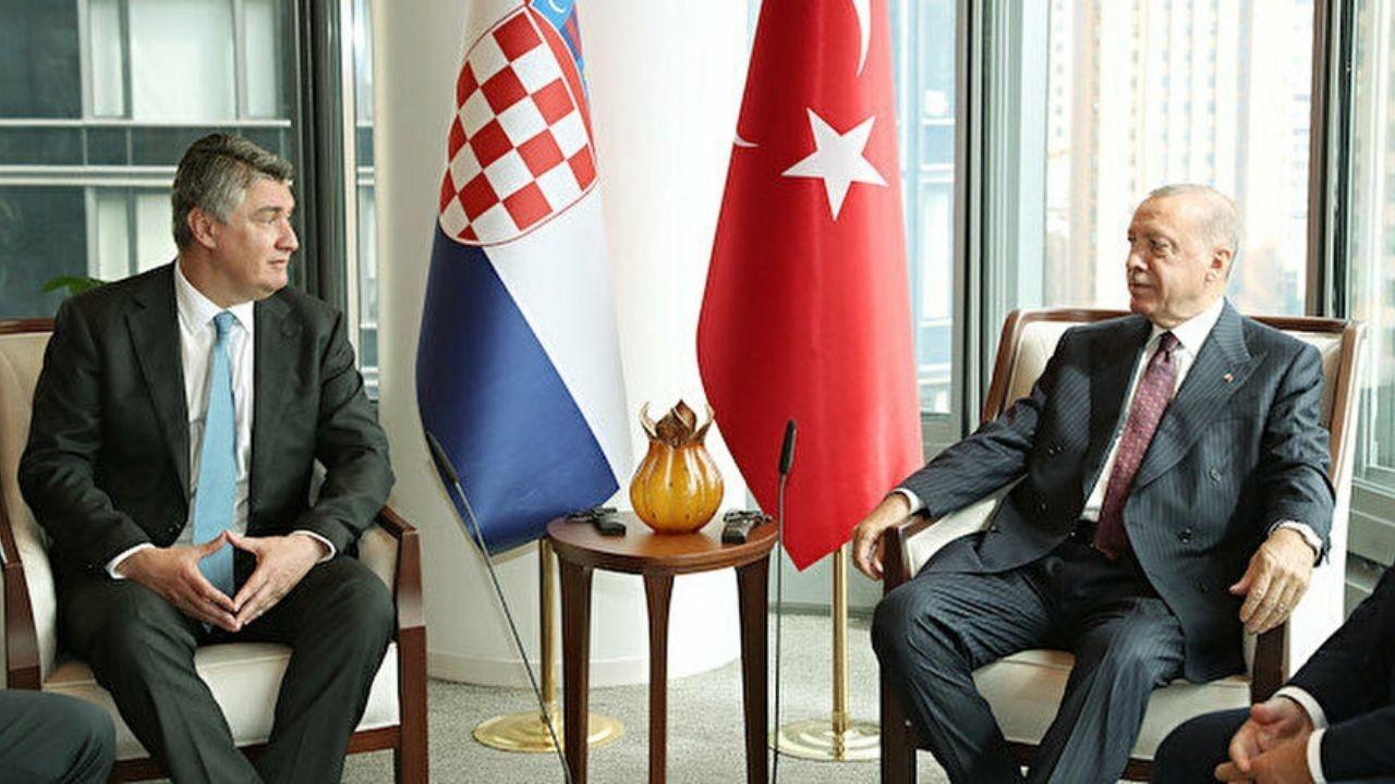 Cumhurbaşkanı Erdoğan, Hırvatistan Cumhurbaşkanı ile bir araya geldi