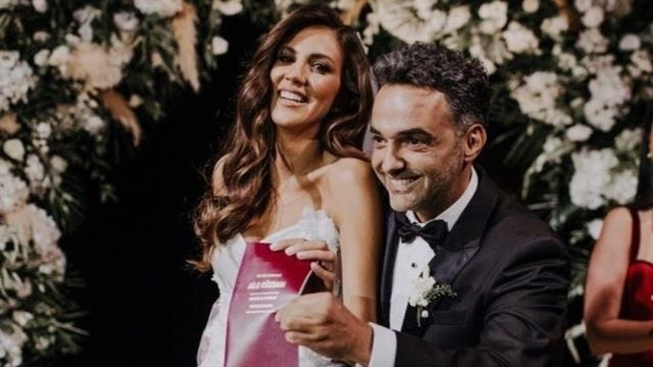 Arda Türkmen ve Melodi Elbirliler'in düğününde korkutan kaza!