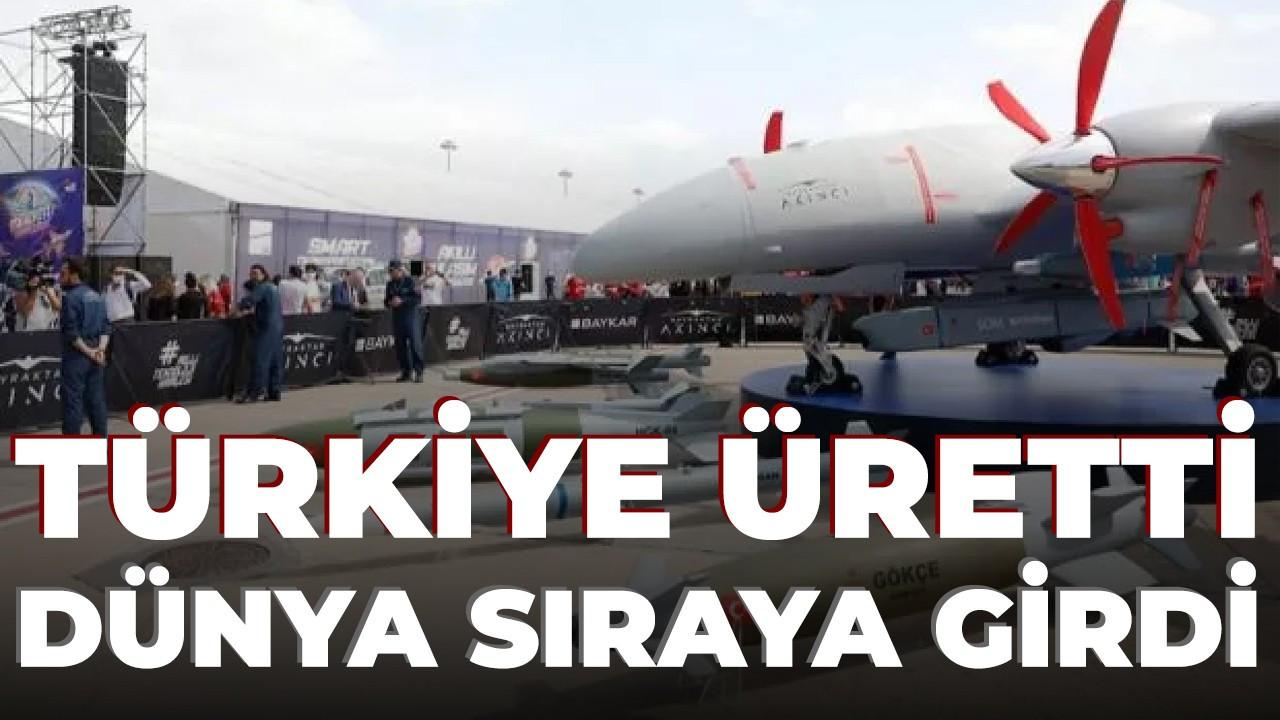 Türkiye üretti, dünya sıraya girdi