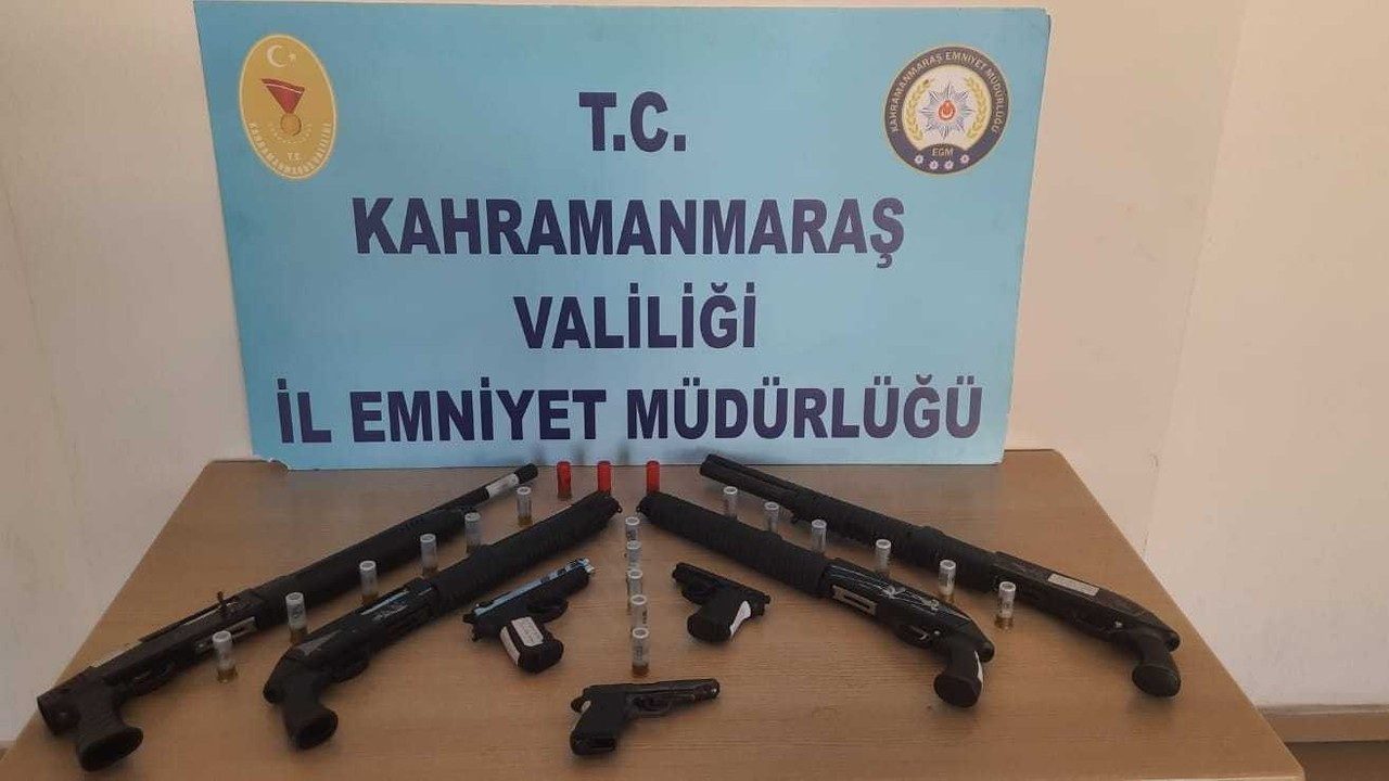 Kahramanmaraş'ta 8 adet silah ele geçirildi