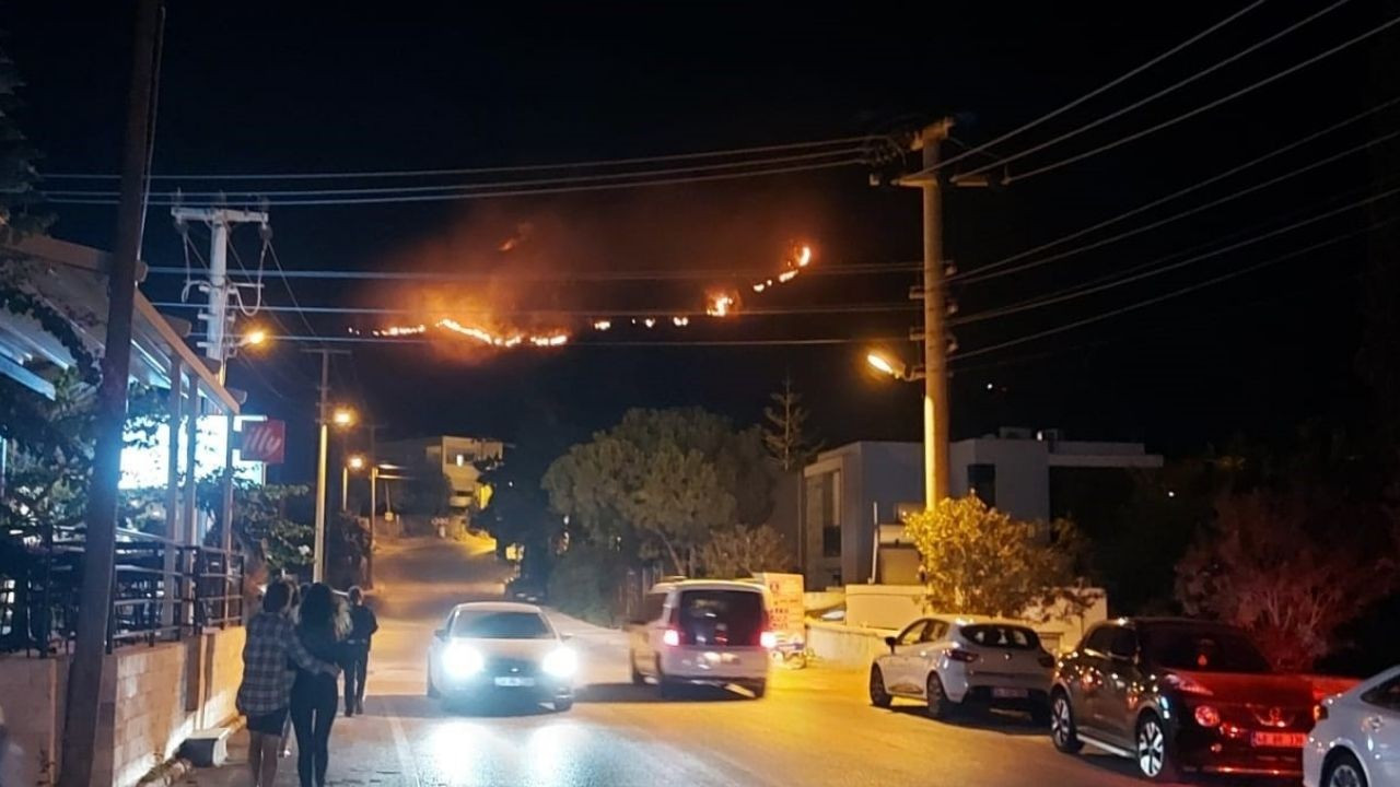 Bodrum'daki orman yangını söndürüldü