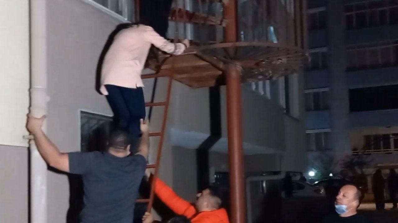 Yangın merdiveninin kilitli olduğu binada can pazarı