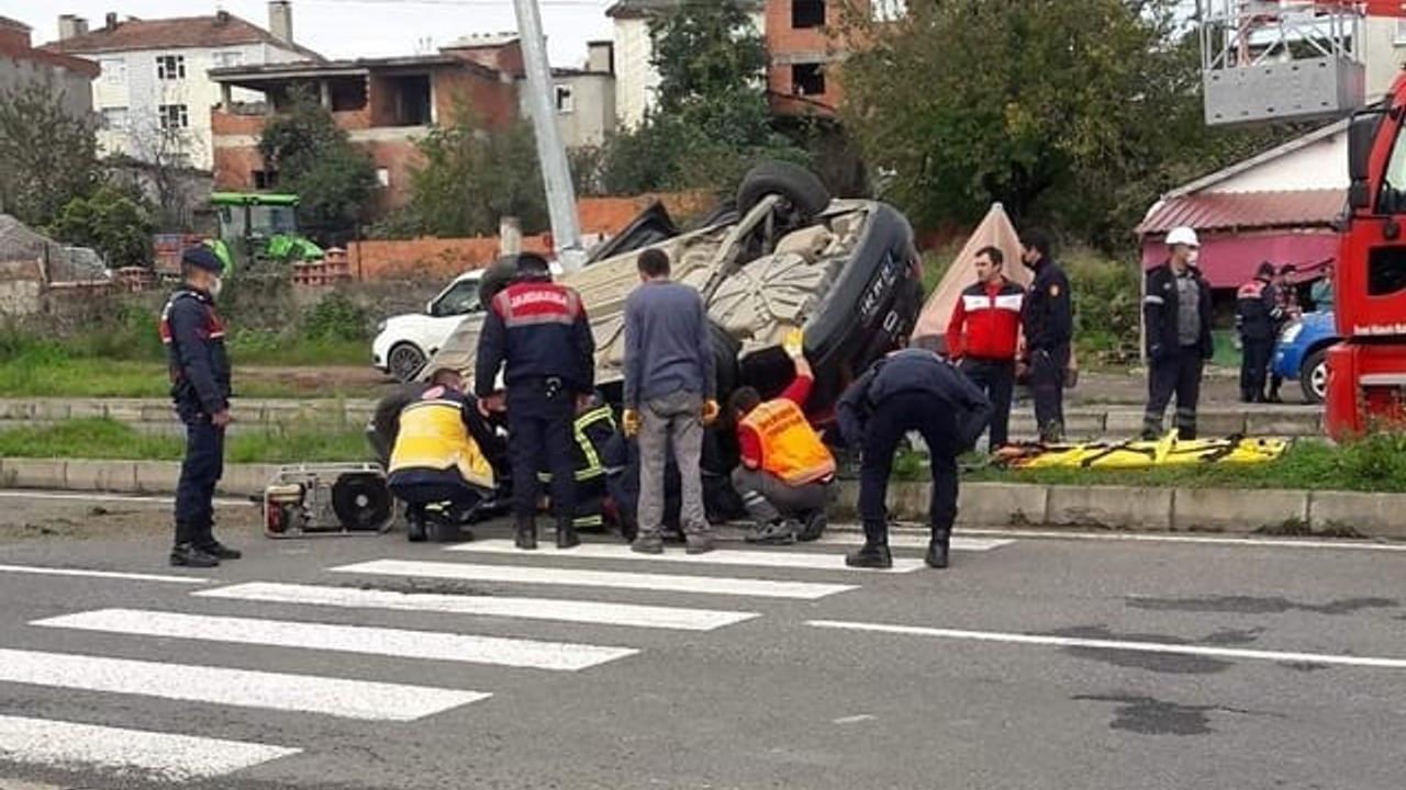 Ordu'da valilik aracı kaza yaptı: 3 yaralı