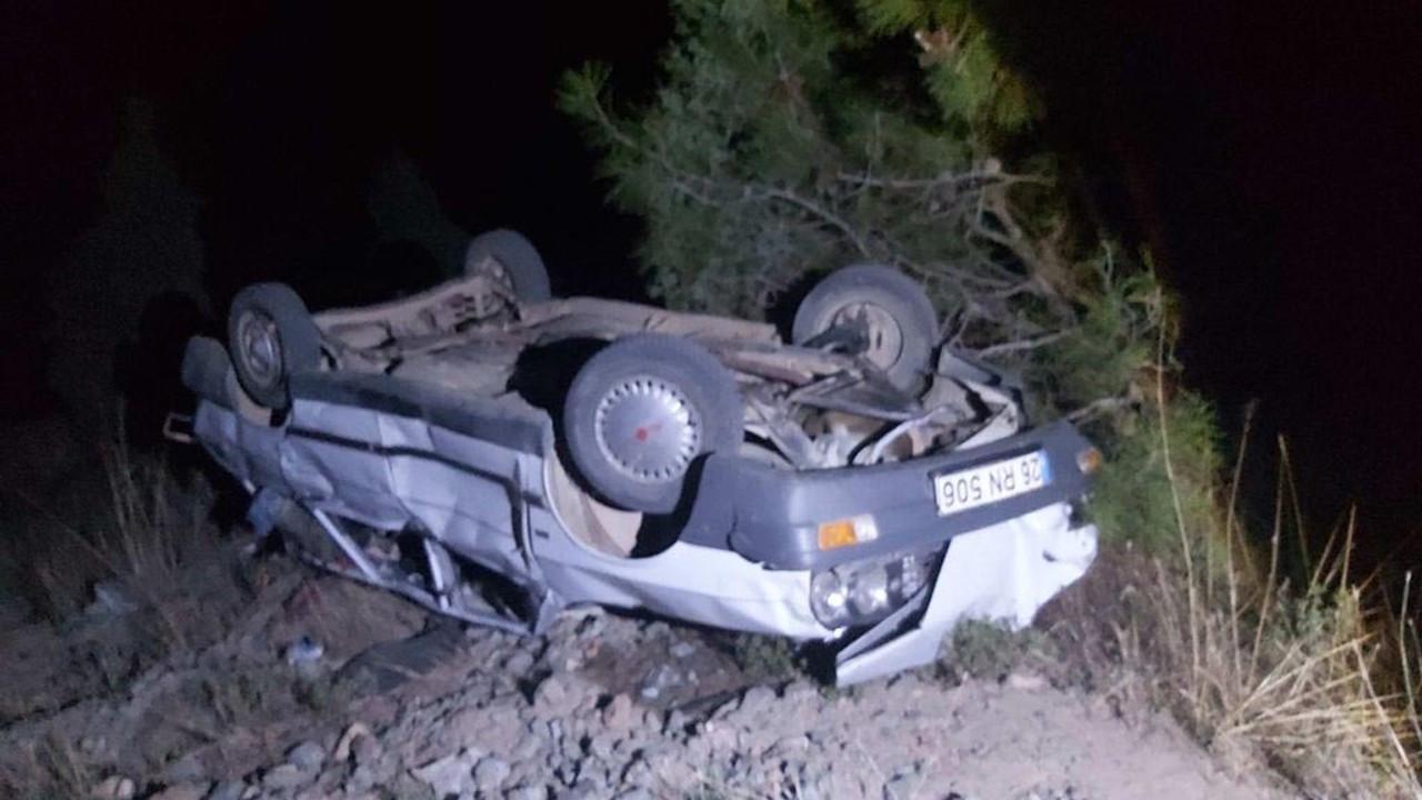Otomobil 80 metreden düştü,  sürücü yaralı kurtuldu