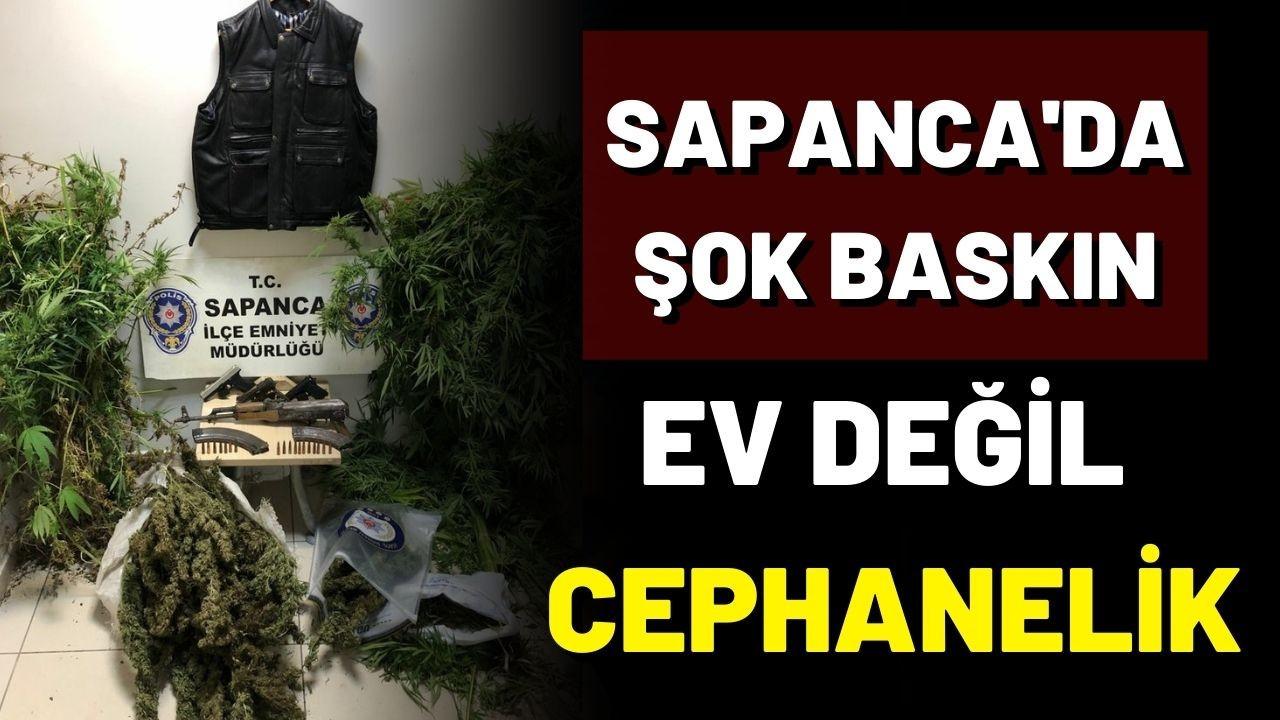 Sapanca'da uyuşturucu ve silah ele geçirildi; 2 gözaltı