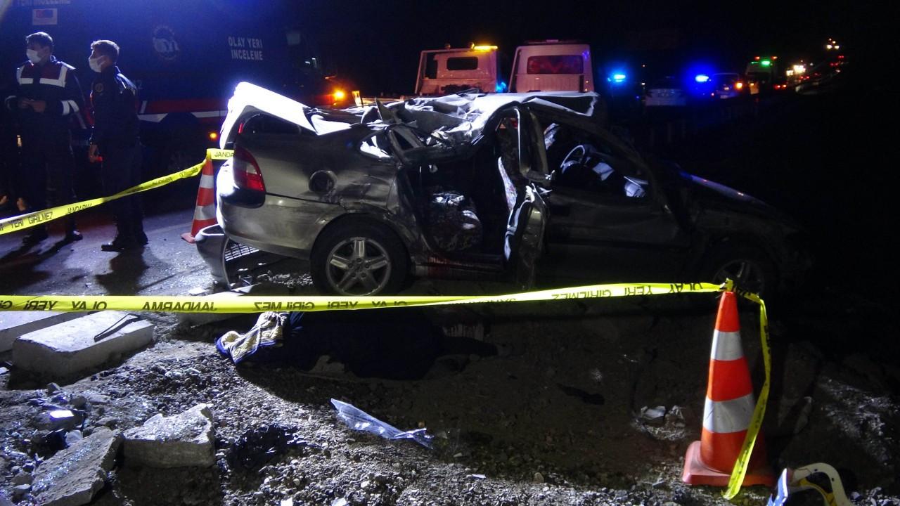 Yozgat'ta iki otomobil çarpıştı: 1 ölü, 6 yaralı