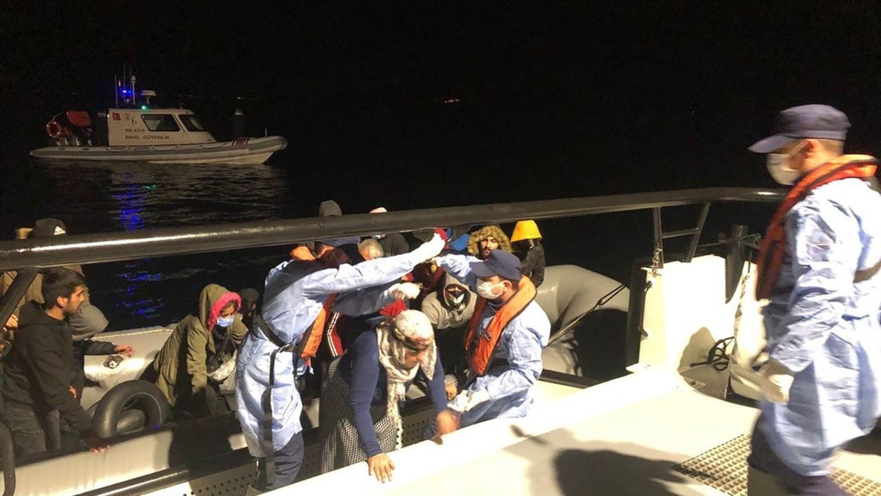 İzmir açıklarında 183 kaçak göçmen kurtarıldı