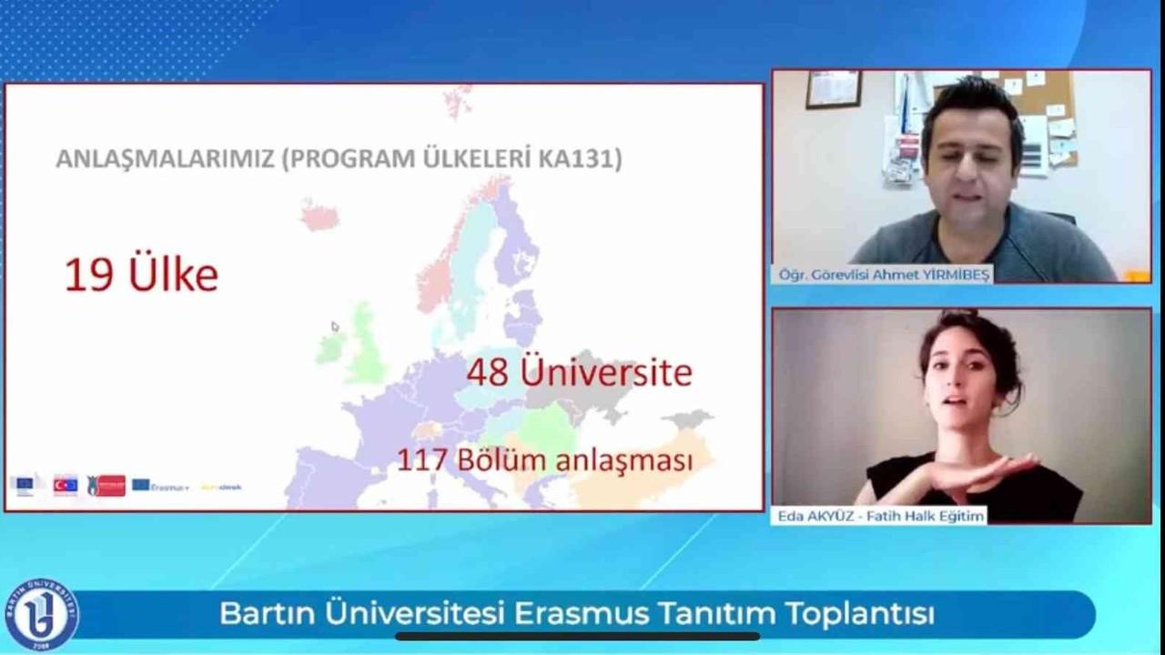 Bartın Üniversitesinde Erasmus+ tanıtım toplantısı gerçekleştirildi