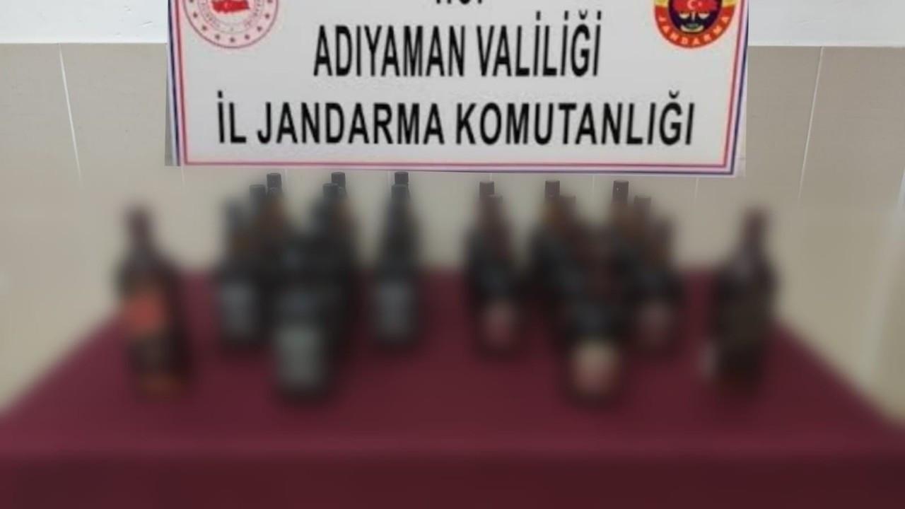 Jandarma ekiplerinden kaçak içki operasyonu