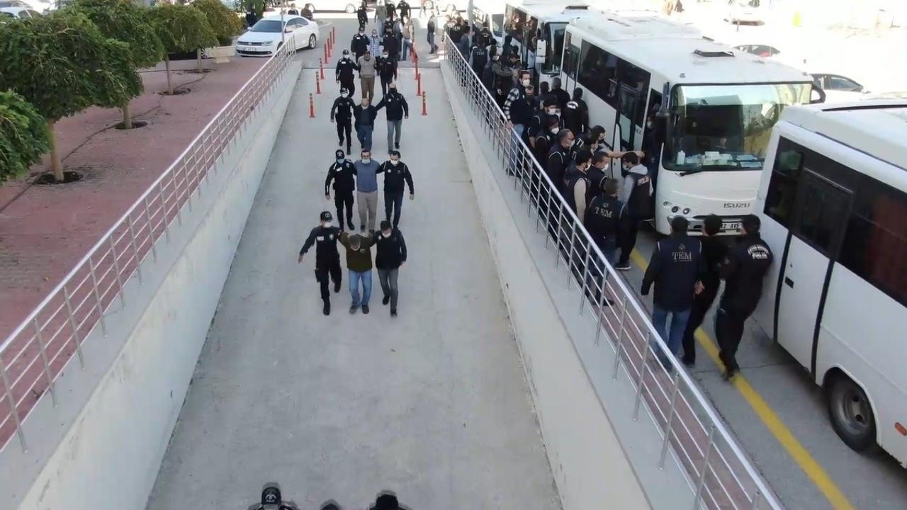 Konya'da silahlı organize suç örgütü operasyonunda 28 tutuklama