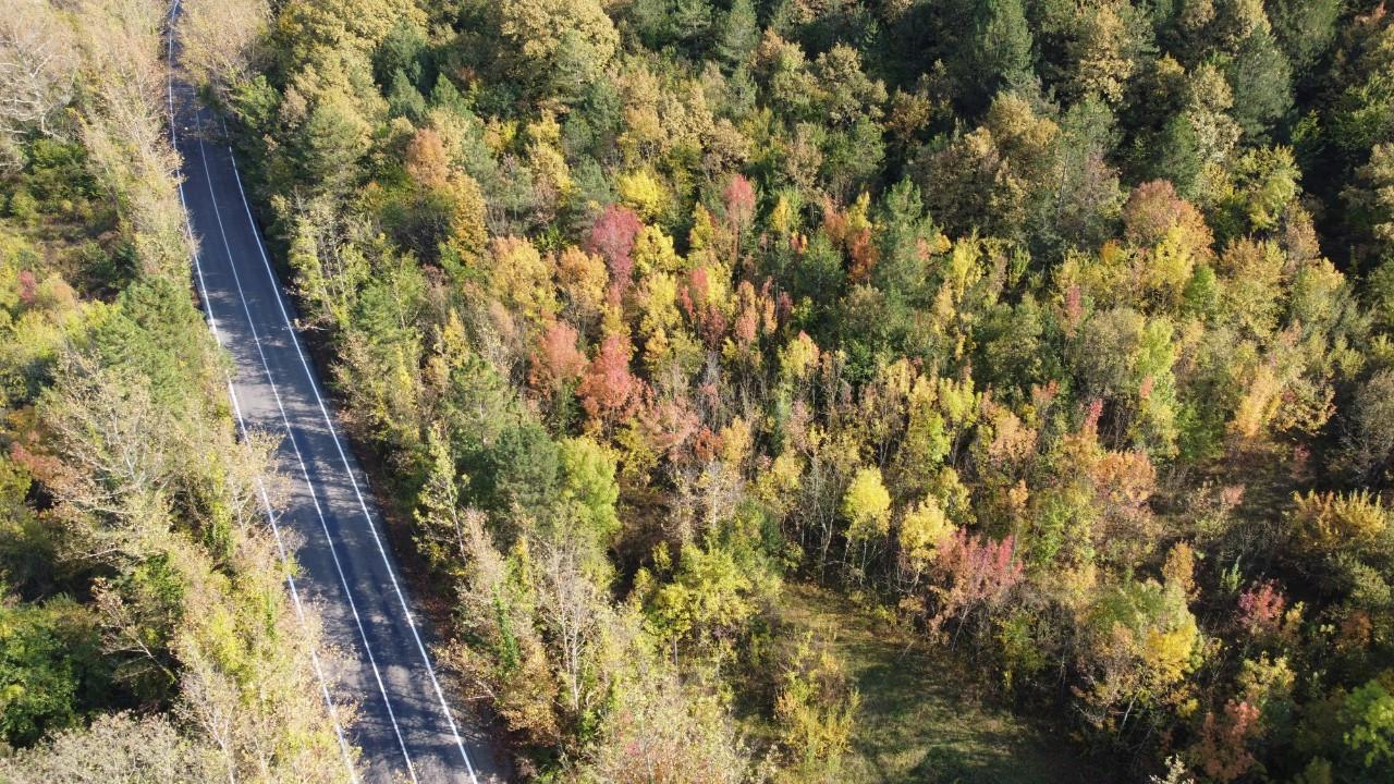 Bartın'da sonbahar manzaraları havadan görüntülendi