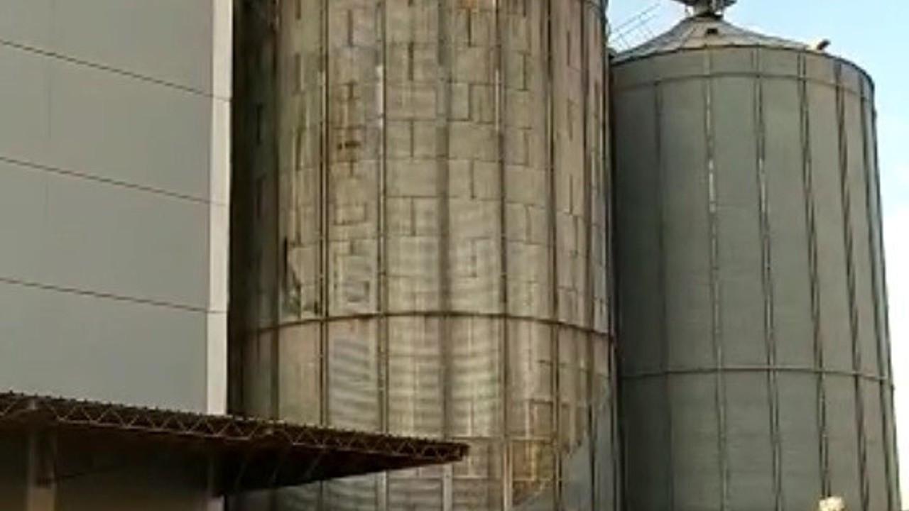 Mersin'de yem fabrikasında yangın