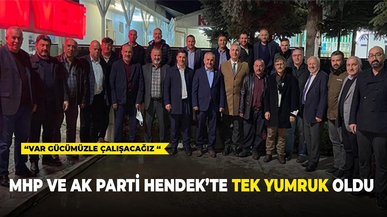 MHP ve Ak Parti Hendek'te Tek Yumruk Oldu