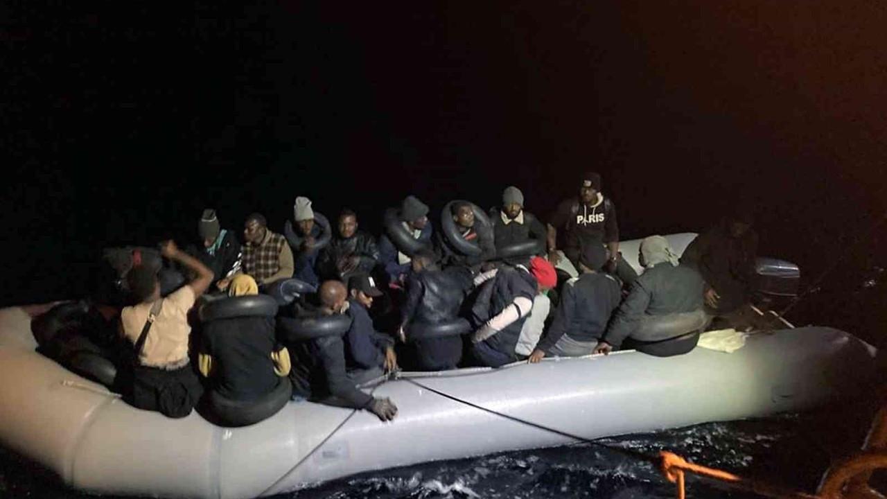 Muğla'da 36 düzensiz göçmen kurtarıldı