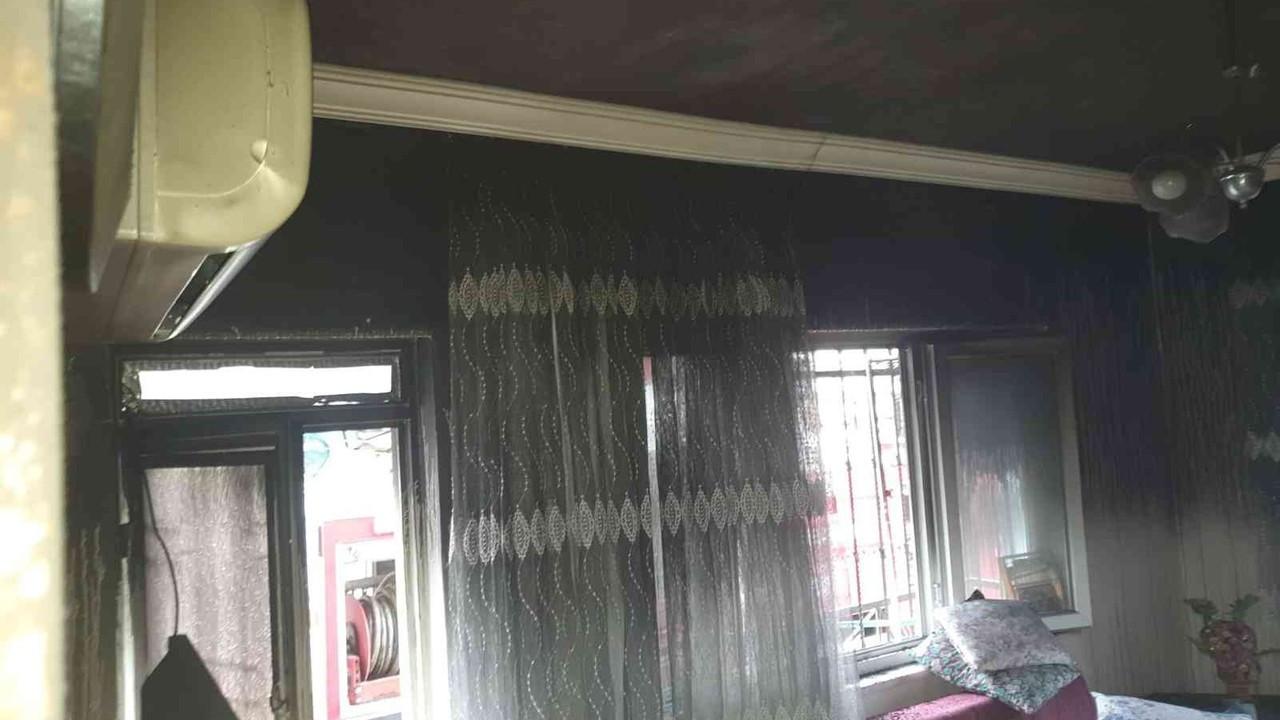 Aydın'da kısa devre yapan buzdolabından yangın çıktı