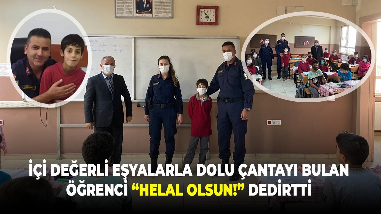 """İçi Değerli Eşyalarla Dolu Çantayı Bulan Öğrenci """"Helal Olsun!"""" Dedirtti"""