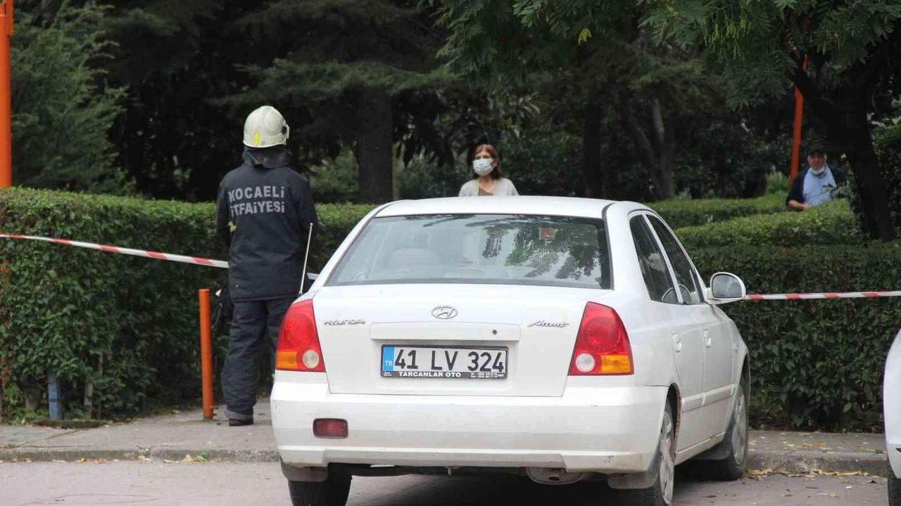 Park halindeki otomobilden sızan gaz korkuttu