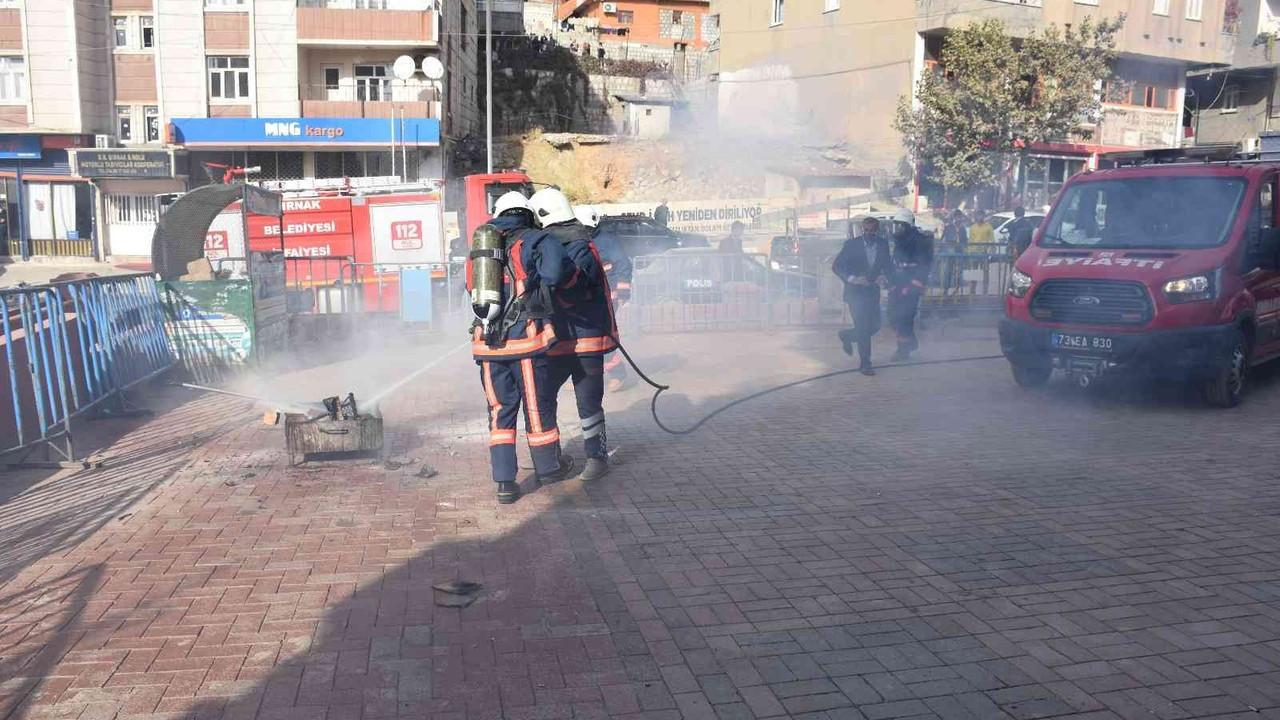 Şırnak'ta deprem ve soygun tatbikatı yapıldı