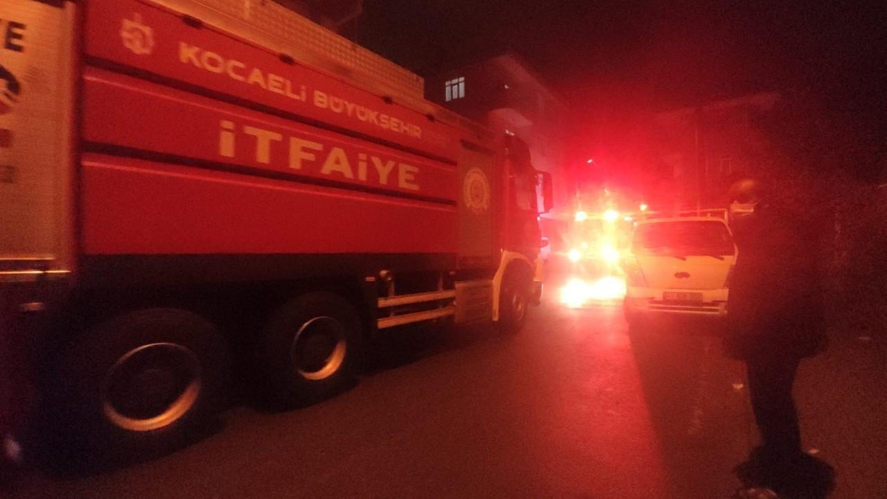Apartman dairesinde yangın paniği