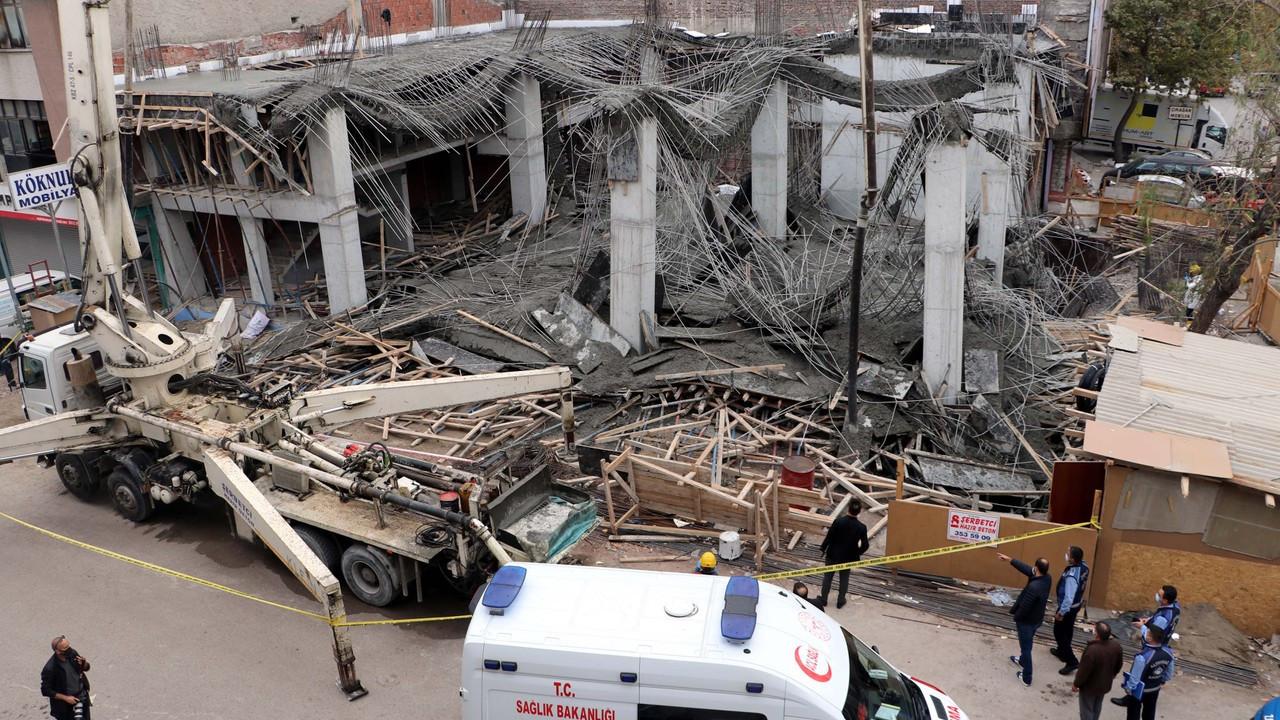 Ankara'da inşaatta göçük: 3 yaralı