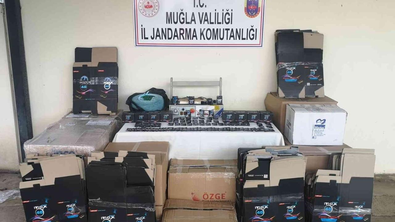 Fethiye'de 300 bin liralık kaçak hap ele geçirildi