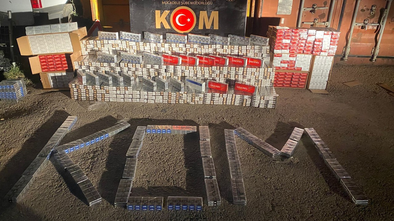 Gaziantep'te 10 bin 790 paket kaçak sigara ele geçirildi