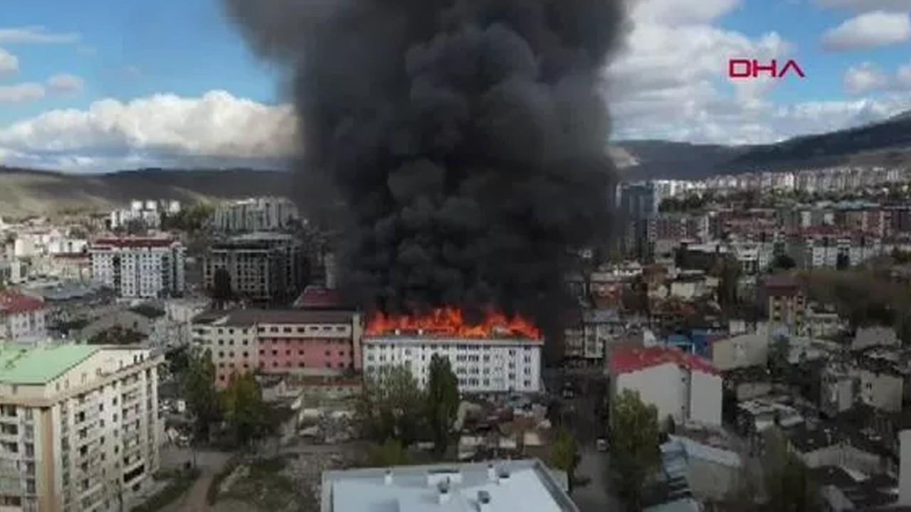 Erzurum'da İller Bankası'nın eski binasında yangın