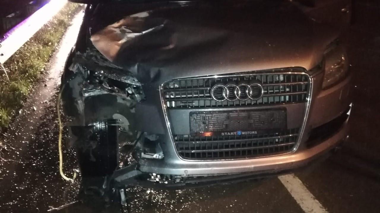Otomobilin çarptığı motosiklet sürücüsü yaşamını yitirdi