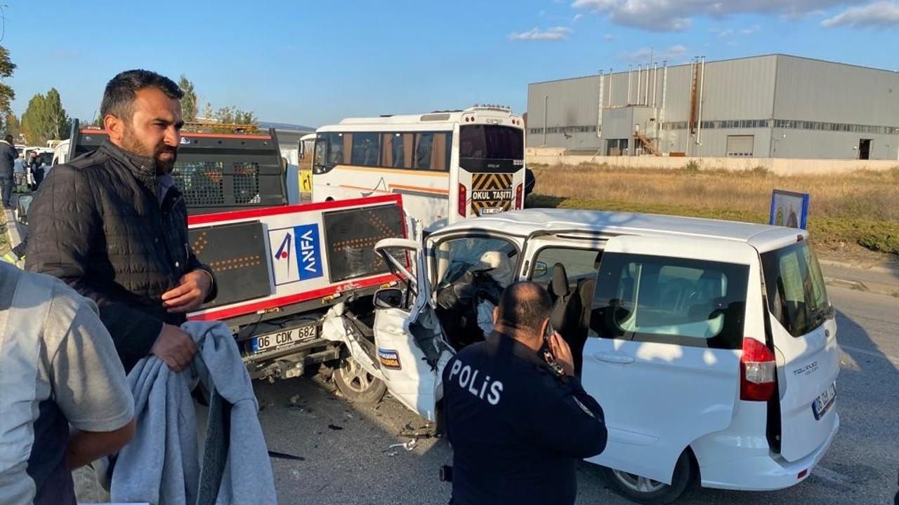 Ankara'da zincirleme kaza: 10 yaralı