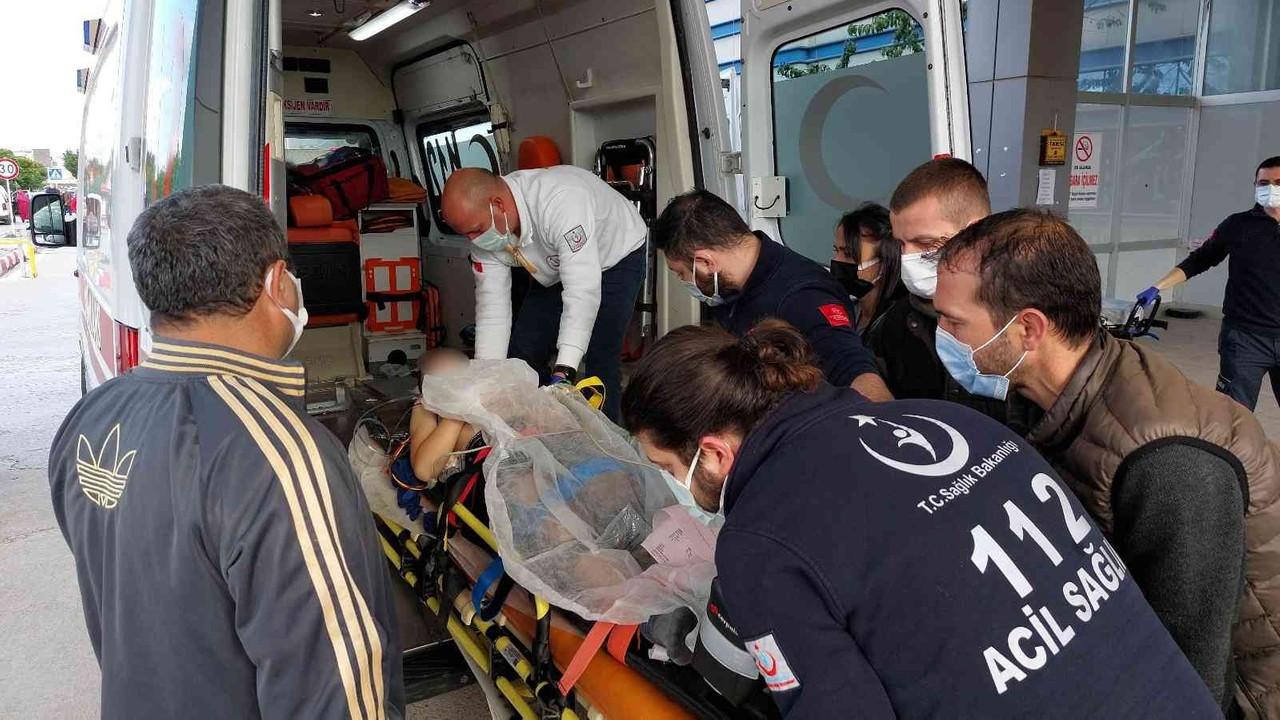 Eve balkondan girmek isteyince 2. kattan düşen çocuk yaralandı